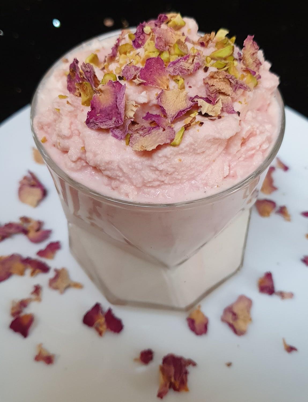Rose Dalgona Milk Recipe