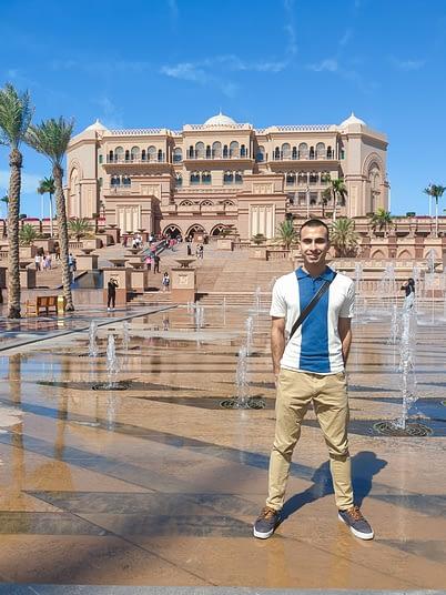 Adil Musa Outside the Emirates Palace