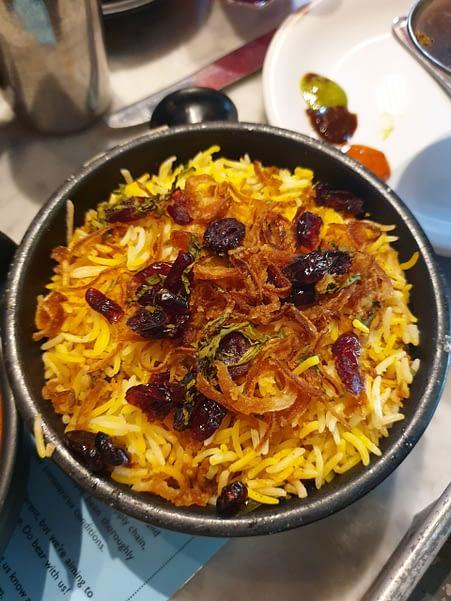 Chicken Berry Biryani at Dishoom